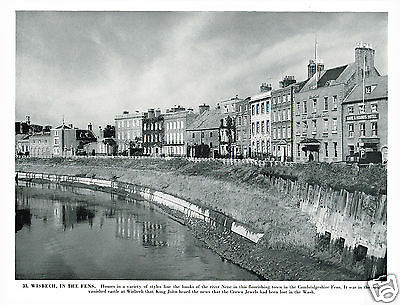 Wisbech In The Fens Cambridgeshire Vintage 1950s Print