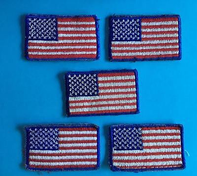 5 Lot American Flag USA Shoulder Badges Patches Crests BSA Boy Scouts Uniform B