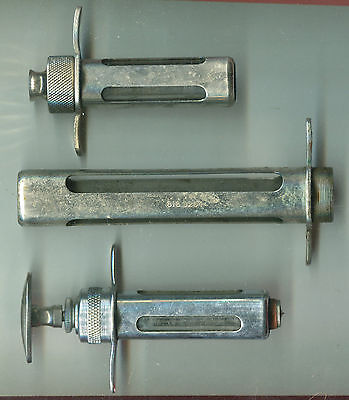 Lot of 3 Veterinary Hypodermic Syringe Parts & Needles
