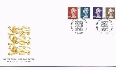 1999 Royal Mail FDC - High Value Definitive (£1.50, £2, £3, £5) - 9 March 1999