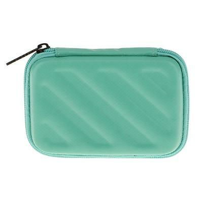 """Mini Pocket EVA Hard Carrying Case Pouch for External 2.5"""" Hard Drive Green"""