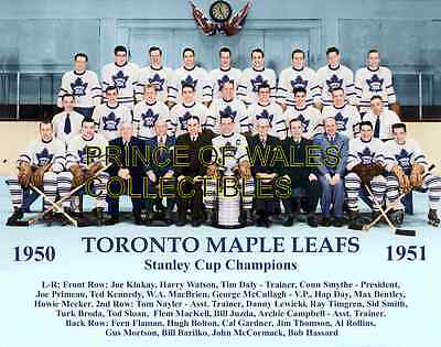 1951d TORONTO MAPLE LEAFS TEAM PHOTO 8X10