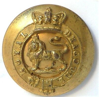 The 1st Royal Dragoons 1855-1901.Officers Mounted military button(JENNENS & CO)