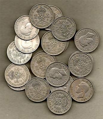 Collection Of 20 Old Florins - All For King George Vi