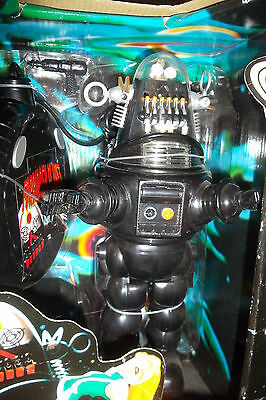 """1956 Forbidden Planet 'ROBBY THE ROBOT' Trendmasters 10"""" Figure Remote Boxed"""