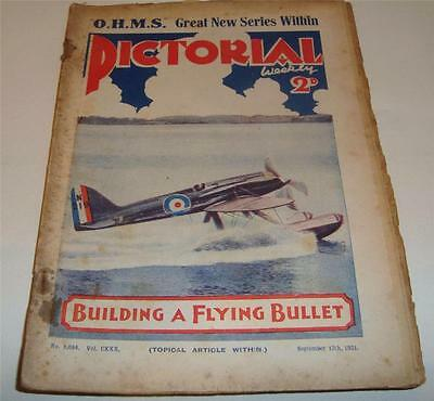 PICTORIAL WEEKLY MAGAZINE BUILDING A FLYING BULLET Sept 12th 1931       61