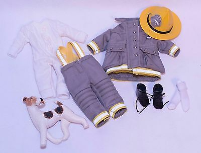 Adorable Helen Kish Riley DJ Boy Outfit Boots Undergarments + Resin Dog & Hat