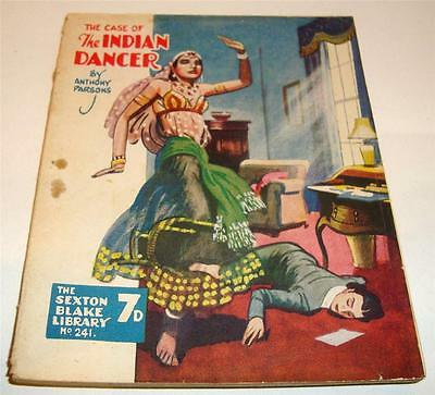 THE SEXTON BLAKE LIBRARY No 241 THE CASE OF THE INDIAN DANCER PULP FICTION  77