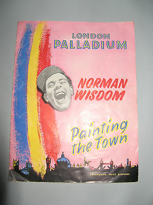 Norman Wisdom in Painting The Town at The London Palladium, 1955. Other Stars.