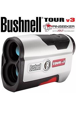 Bushnell Tour V3 Golf Laser Rangefinder Featuring Jolt Technology + Storage Case