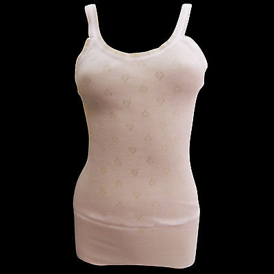 New Womens Ladies Soft Thermal Round Neck Warm Vest Top Plus Size Soft Stretchy