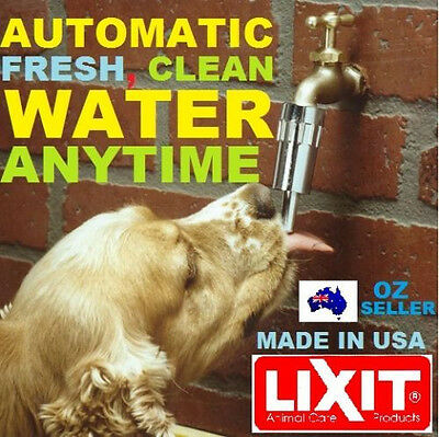 LIXIT DOG WATER PET TAP fountain automatic drink anti bowl barking fresh no hose