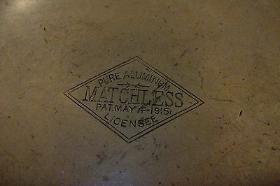 Ww1 Era Matchless Pure Aluminum Canteen With Stopper Pat, May 4, 1915