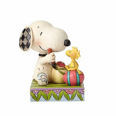 4055653 Jim Shore Easter Snoopy and Woodstock with Easter Eggs NIB