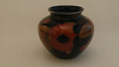 Moorcroft c1949 Pomegranate & Berries With Leaves Small Squat Vase