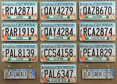 10 GEORGIA Graphic Flat License Plates Decor Art Man Cave Gift Shop Tags LOT 871