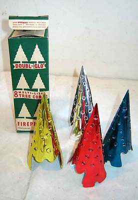 Vintage 1950s DOUBL-GLO XMAS TREE LIGHT CONES MIB