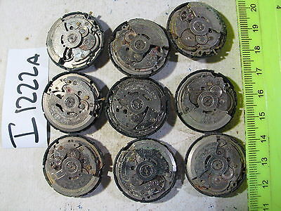 9pc SEIKO Automatic Gents MOVEMENT 7S26   Parts Watch AsIs