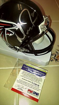 MATT RYAN signed FALCONS mini helmet PSA COA