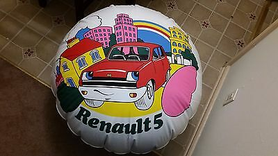 Vintage Renault 5 Car Dealer Showroom Blow Up Advertising Display Ad Poster