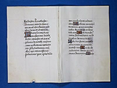 Medieval Book of Hours,Manuscript Dble-Lf,Vellum,Init.in several colors,c.1485