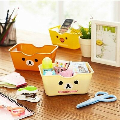3 Colors Small Rilakkuma Relax Bear Pen,Remote Control Desktop Storage Box