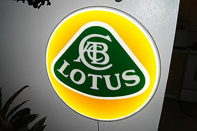 Lotus 3D SIGN LIGHTED NEON MOTORCYCLE CAR SPORT GARAGE RACING