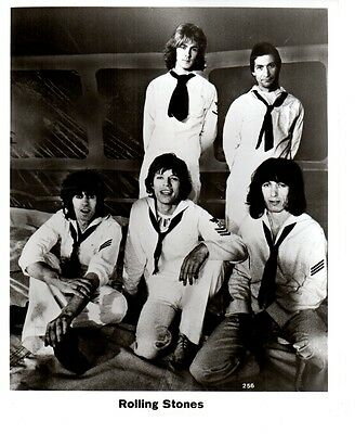 1970's Promotional Photo Rolling Stones with Mick Taylor Wearing Sailor Suits