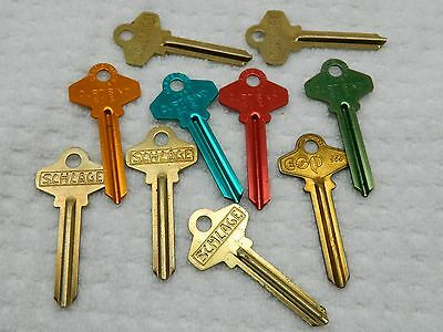 SC6 SCHLAGE KEY BLANK 10 KEY BLANKS  LOTS of COLORS FAST SHIPPING