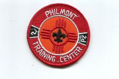 Patch From Philmont Scout Ranch-Philmont - Training Center Red Background