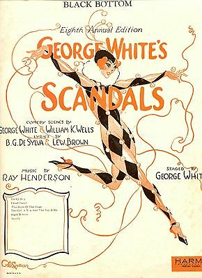 1926 THE BLACK BOTTOM Sheet Music GEORGE WHITE'S SCANDALS