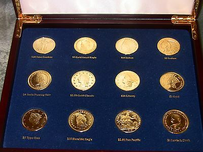 Tribute to America's Most Beautiful Gold Coins by American Coin Treasures set 12