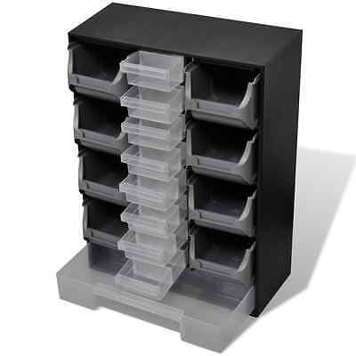 S# New 14 Drawers Storage Cabinet Tool Box Chest Case Plastic Organiser Toolbox