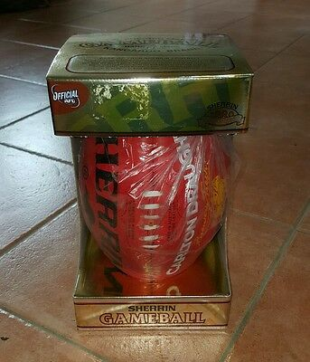AFL Official Sherrin Game Day Gameball Carlton Draught Football Leather