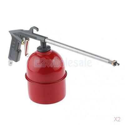 2PCS Air Power Gun Cleaning Washer with 6 Siphon House Solvent Cleaner Gray