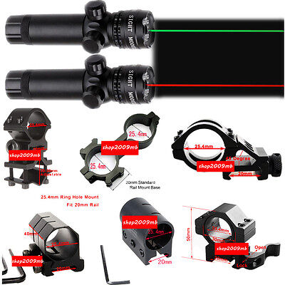 Green or Red Dot Laser Sight Mounts With Remote Switch For Rifle Gun Hunting