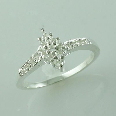 Semi Mount Round Shape Ring 1.90 MM Solid 925 Silver Party Wear Ladies Jewelry