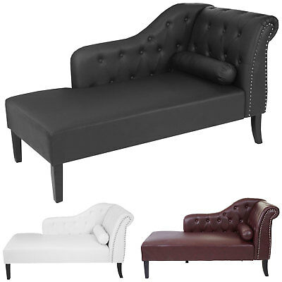 Luxus Recamiere Chesterfield, Relaxliege Loungesofa Chaiselongue, Kunstleder