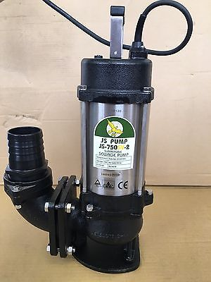 "3"" Heavy duty Submersible sewage sump pump slurry, wastewater cesspit JS750SV"