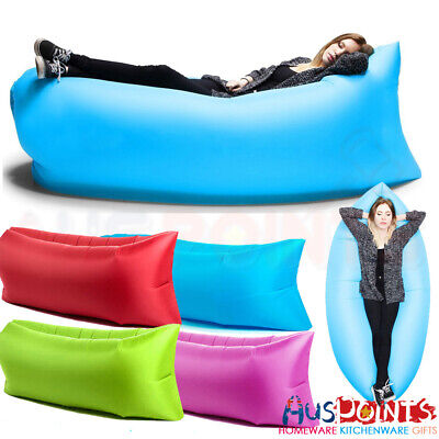 Chill Chair Portable Large Inflatable Lounge Couch Seat Outdoor Camp Beach