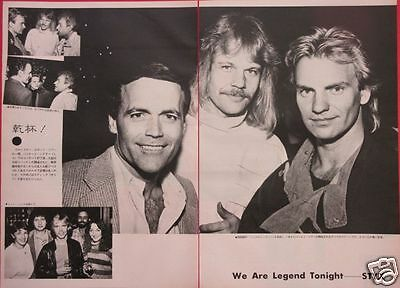 Styx Party James Young Sting 1983 Clipping Japan Magazine Ml 7A 3Page
