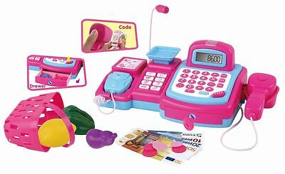 Vinsani Pink Cash Register with Scanner & Walkie talkie Pretend Role Play Toy