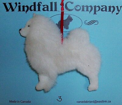 American Eskimo Dog Soft Plush Christmas Canine Ornament #3 by WC