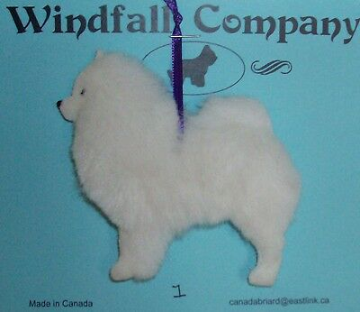 American Eskimo Dog Soft Plush Christmas Canine Ornament #1 by WC