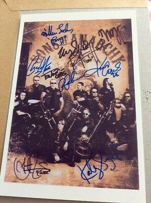 Sons Of Anarchy Cast Of 10 Signed Autograph