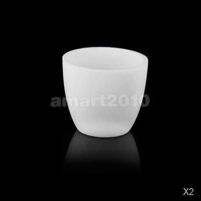 10x 30ml Alumina Conical Crucible Melting Pot for Lab Muffle Furnace 1800℃