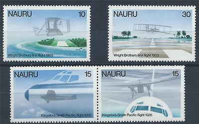 NAURU 1979 SG200/203 Flight Anniversaries Set Aircraft Mint MNH