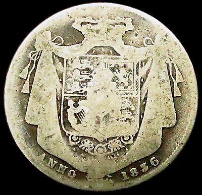 S509: 1836 William IV Silver Half Crown - described as the best coin design ever