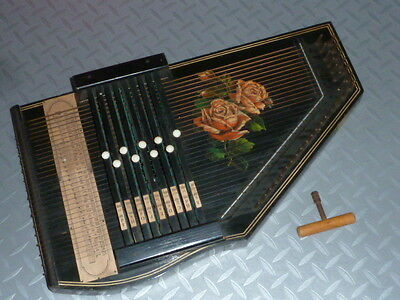 Superb Vintage German 32 String Autoharp with Tuning Key, c1920