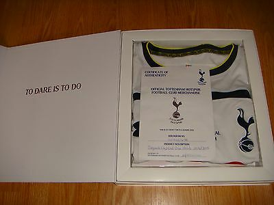 TOTTENHAM * Shirt* SPURS Signed 2014/15 Capital Cup Final THFC COA Boxed